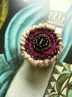 Crochet Rings, Diy Crochet, Swarovski, Magic Circle, Diy Rings, Earrings, Jewelry, Etsy Shop, Felted Jewelry