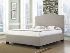 Oxford-X Cal King-size Fabric Bed. Bedroom Furniture Stores, Furniture Deals, Home Furniture, Furniture Showroom, Wingback Bed, Upholstered Beds, Fabric King Size Bed, King Size Storage Bed, Cal King Size