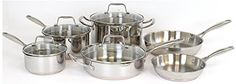 Oneida 1810 Stainless Steel with Copper Base 10pc Cookware Set >>> You can find more details by visiting the image link.