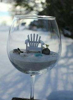 Put an engagement ring in the chair and this could be a fun way to propose to someone who loves the beach.