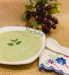 Cookpad - Make everyday cooking fun! Broccoli Recipes, Soup Recipes, Great Recipes, Cooking Recipes, Broccoli Stalk, Pepper Powder, Hand Blender, Coriander Leaves, Cheeseburger Chowder