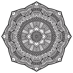 Ornament beautiful card with mandala. Geometric circle element made in vector | Vector | Colourbox on Colourbox