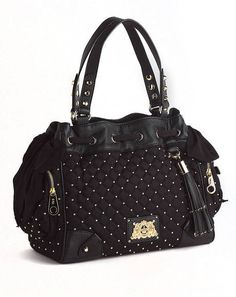 Juicy Couture Daydreamer Easy Everyday Bag with Leather Trim in Black | Lyst