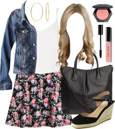 Alison Dilaurentis inspired outfit with requested skirt by liarsstyle featuring a denim jacket