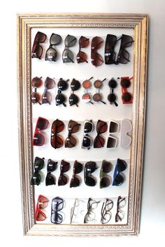 sunglass storage/old frame.