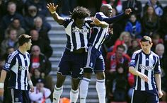 ~ West Brom celebrating their victory against Southampton ~