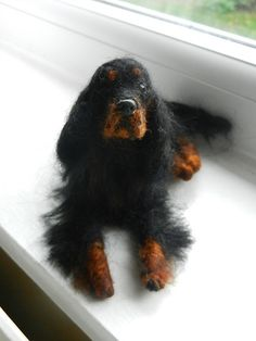 gordon setter needlefelted sculpture by adore62,,
