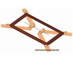 Adjustable 4 corner framing clamp plan