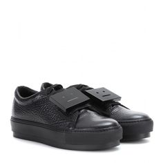 Acne Studios Adriana Leather Sneakers (25.835 RUB) ❤ liked on Polyvore