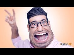 In this Advance Photoshop Tutorial we will learn to create Caricature step by step using a stock photo. While doing this effect we will make use of liquify o. Photoshop Tutorial, Photoshop Actions, Photo Manipulation Tutorial, That Look, Take That, Caricature, Presentation, Stock Photos, Embroidery