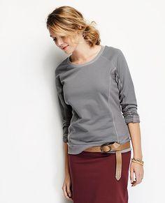 Sideline Sweatshirt In French Terry from #HannaAndersson.