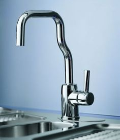 A kitchen faucet designed by Alessandro Mendini