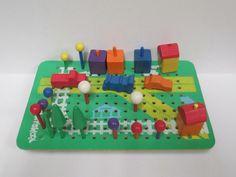 Vintage Playskool Village Peg Board Build a by retrogal415 on Etsy