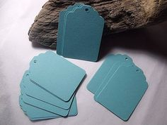 Blank Tiffany Blue gift tags / label  set of 50 by moldsrus, $3.49