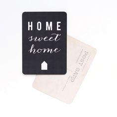 Image of Carte Postale HOME SWEET HOME / ARDOISE