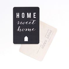 Image of Carte Postale HOME SWEET HOME / ARDOISE