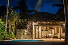 Overlooking a sandy private beach, Tokoriki Island Resort boasts a day spa, an outdoor pool and 2 restaurants. Romantic Beach, Palawan, Island Resort, Cebu, Beach Hotels, Fiji, Pacific Ocean, Australia Travel, Outdoor Pool