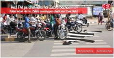 #Red FM Indore the Bajaate Raho Radio Station of Indore did something awesome to create awareness about Zebra Lines in their city. Something wacky was done to drive the #message home.