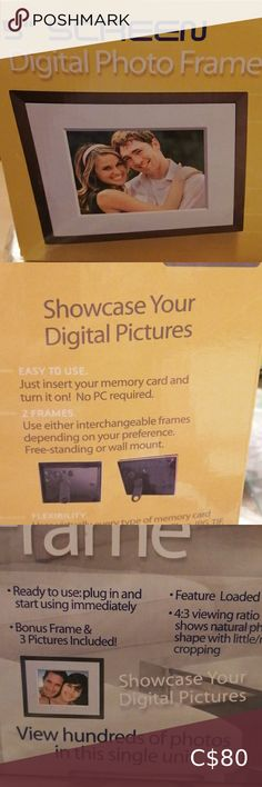 New digital photo frames Showcase your digital pictures Still in the box just insert your memory card and turn it on! No pc required Other Digital Photo Frame, Congratulations, Frames, Memories, Check, Cards, Pictures, Closet, Shopping
