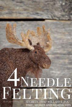 4 Needle Felting Secrets to save you time, money and headaches. | Bear Creek Felting