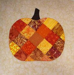 Patchwork Pumpkin Table Runner: Work in Progress » Notions - The Connecting Threads Quilt Blog