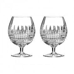 Waterford Lismore Pair Ruby Brandy Glasses