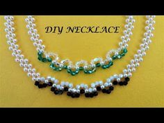 DIY pearl and crystal Beading Necklace. Handmade Jewelry Tutorials, Diy Jewelry To Sell, Jewelry Making Beads, Handmade Bracelets, Custom Jewelry, Beaded Bracelets, Diy Bracelet, Diy Necklace Name, Diy Necklace Metal