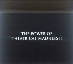 Willy Vanderperre / the power of theatrical madness 2 / cfr. Jan Fabre dance teathre