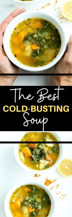 This is the BEST soup for a cold!! Food is medicine so if you're feeling sick with a seasonal cold, have someone make you this nourishing soup to help you heal and feel better faster! Great recipe.