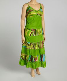 Loving this Lime Wave Maxi Dress - Plus on #zulily! #zulilyfinds