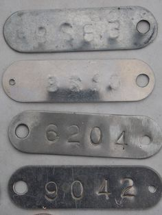 80 Best Numbered Tags Images In 2014 Vintage Numbers