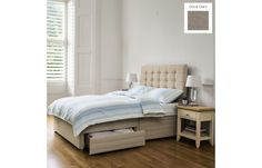 Laura Ashley Dove Grey Bed & Mattress