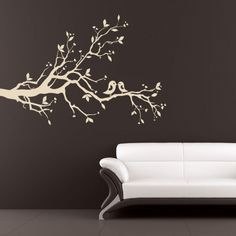 www.stickurz.com, Branch, Birds, Nature, Flowers, Sticker, Wall Decal, Design, Decoration, wall tattoo