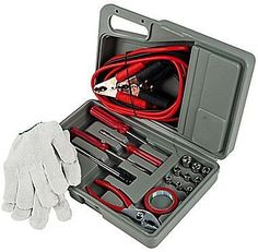 Tank Technology 30 Piece Roadside Emergency Tool and Auto Kit