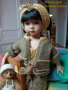 "English and French PDF KNITTING PATTERN 13"" dolls Little Darling, Narsha. $10.00, via Etsy."