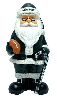 New York Jets Garden Gnome - Santa