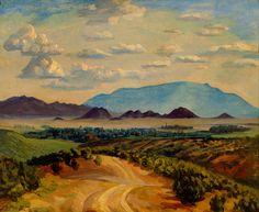 A Road to Santa Fe, John Sloan, 1924, Phoenix Art Museum