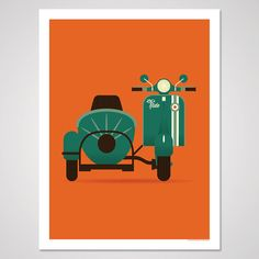 Let's Ride  18x24 Art Print by AndrewHeath on Etsy
