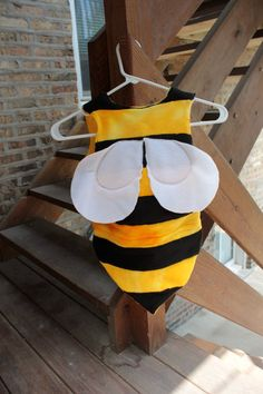 The adorable bee costume I made for a custom order.