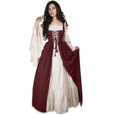 Brand Name: None Components: Dresses Components: Tube Tops Source Type: Historical Gender: WOMEN Item Type: Sets Characters: Other Model Number: Medieval women dress Material: Polyester Style: Gothic fancy dress Item: Fancy court princess dress Type: Long bell sleeve dress Character: Prinecess queen vampire witch Occasion: Medival European court Decoration: Ruched Strapless dress Halloween costume: Medival clothing Renaissance clothing: Victorian clothing Maxi dress: Long dress Vintage princess Renaissance Festival Costumes, Renaissance Clothing, Renaissance Outfits, Italian Renaissance Dress, Renaissance Fashion, Medieval Outfits, Vintage Outfits, Vintage Clothing, Medieval Dress