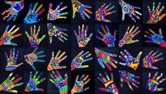 Nothing could be simpler than copying our hand with a pencil … and then? We decorate our hands with shapes and free colors, but putting a word between the colors: ART. We know that in these s…