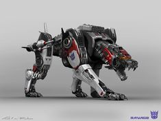 Ravage from Transformers: Bumblebee. A collab design done with the talented Karl Lindberg. We originally tried the puma approach but as we progressed (and began wondering why Ravage should look like a creature from Earth) we tried to make him more of a Transformers Decepticons, Transformers Bumblebee, Transformers Movie, Animal Robot, Zoids, Transformers Collection, Arte Robot, Beast, Robot Concept Art