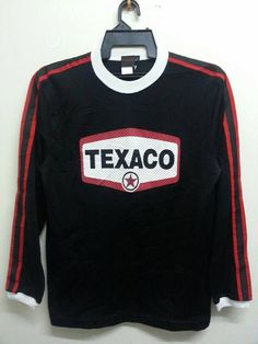 Sale Vintage 1990s Texaco Oil Style Mesh Jersey by SuzzaneVintage