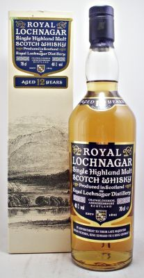 Royal Lochnagar 12 year old Scotch Whisky Old Style Packaging 40% 70cl