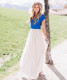 Elegance to the max in this cute maxi skirt by @blissTULLE in the style Chloe Maxi