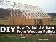How To Build A Barn From Wooden Pallets DIY #DIY #Pallet http://www.diyhomestips.com/125/diy/how-to-build-a-barn-from-wooden-pallets-diy
