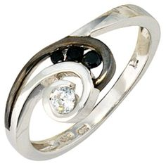Damen-Ring 4 Zirkonia 8 Karat (333) Weißgold Schwarz 60 (19.1) Dreambase, http://www.amazon.de/dp/B00AEDZ8YQ/ref=cm_sw_r_pi_dp_cMbjtb0Z0Z90V