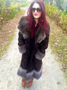 Vintage 60-70's Suede & Faux Fur Winter by FactoryDuMonde on Etsy
