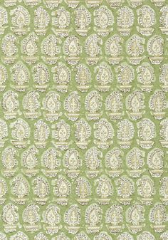 GADA PAISLEY, Green, AT78784, Collection Palampore from Anna French