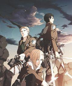 Attack On Titan 進撃の巨人 shingeki no kyojin annie bertholdt and reiner 5 Anime, Anime Kawaii, Anime Art, Armin, Mikasa, Reiner And Bertholdt, Snk Annie, Tous Les Anime, Annie Leonhart